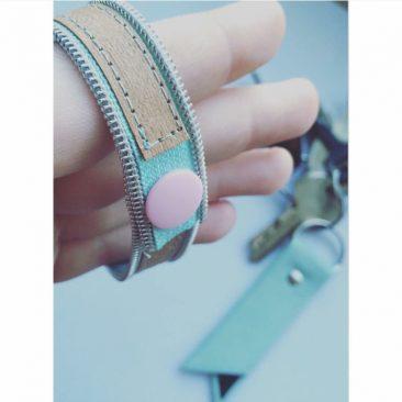 Reißverschlussarmband von kupfergold.blog via Instagram