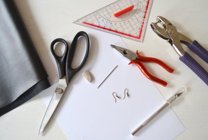 DIY Fransenohrringe Werkzeug und Material