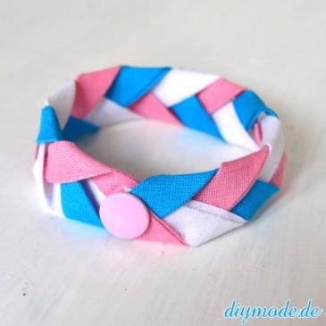 DIY Flechtarmband aus Schrägband selber machen