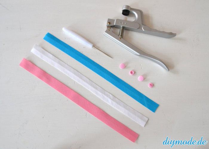 DIY Flechtarmband aus Schrägband Werkzeug