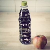 Upcycling Bemalte Trinkflasche