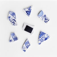 Upcycling DIY Kühlschrankmagnet aus Porzellanscherben