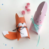 Upcycling DIY Tiere aus Papprollen