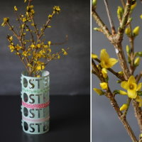 Upcycling DIY Vase aus Papier