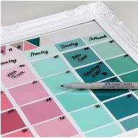 Upcycling DIY Wandkalender aus Farbkarten