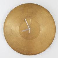 Upcycling Goldene Schallplatten Uhr