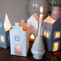Upcycling Kerzenlichter aus Milchkartons