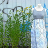 Upcycling Maxikleid aus Tanktop