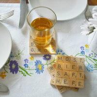 Upcycling Scrabble als Untersetzer