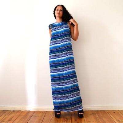 DIY Maxikleid ohne Nähen in 5 Minuten – Sommerkleid, Strandkleid, Weste, langes Kleid selbst machen