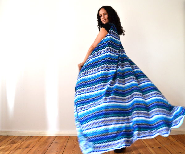 DIY Maxikleid Sommerkleid Strandkleid langes Kleid selbst machen einfach und schnell ohne Nähen 3