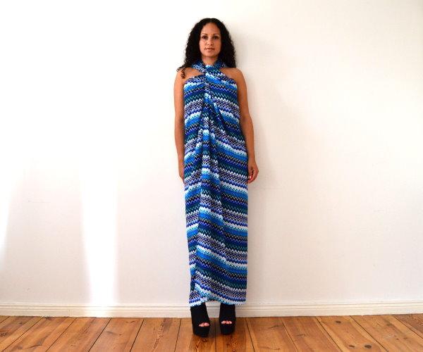 DIY Maxikleid Sommerkleid Strandkleid langes Kleid selbst machen einfach und schnell ohne Nähen 4