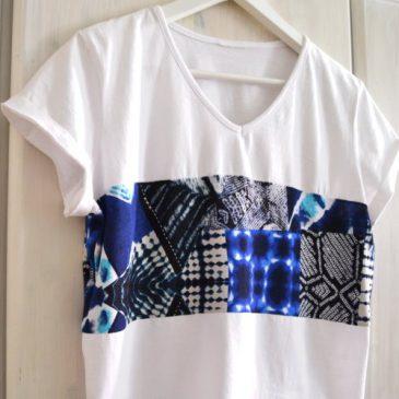DIY ♥ T-Shirt Nähen für Anfänger Upcycling Oberteil Crop Top einfach selbst machen