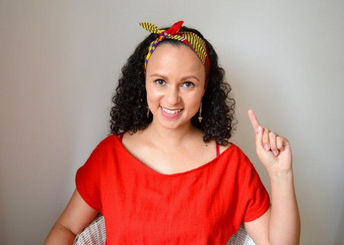 DIY Haarband zum Knoten mit kostenlosem Schnittmuster Nähen für Anfänger Bandana Rockabilly
