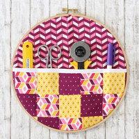 diy nähen nähanleitung kostenlos idee geschenk für kreative utensilo zum aufhängen stickrahmen