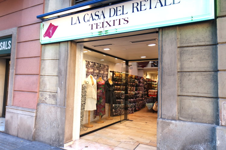 Stoffladen Barcelona stoffe kaufen in Barcelona Stoffläden