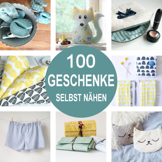 geschenke selbst n hen 100 kleine diy geschenkideen mit kostenloser n hanleitung diy mode. Black Bedroom Furniture Sets. Home Design Ideas