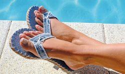 Jeans-Flip Flops / Fotoanleitung