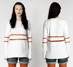 Longsleeve mit Cut-Outs / (Gr 36-50) ohne Anleitung