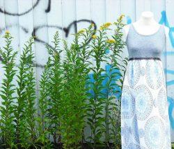 Upcycling Kleid aus Oberteil und Stoff / Kurze Textanleitung