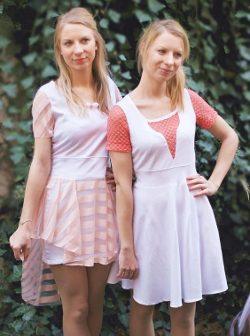 Jerseykleid mit Tellerrock / Schnittmuster (Gr 34-48) und Fotoanleitung