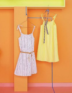 Sommerkleid mit Spaghettiträgern / Textanleitung für Einheitsgröße