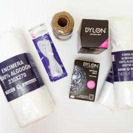 Batiken in der Waschmaschine / Stoff färben mit Dylon