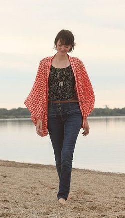 Kimono Cardigan / Fotoanleitung mit Skizze