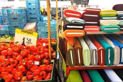 Stoffmarkt am Maybachufer Berlin / Stoff kaufen und türkisch essen in Neukölln