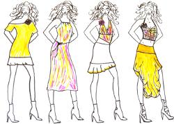 Modezeichnen Vorlage