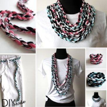 DIY Kette oder Armband aus Wolle zum Selbermachen