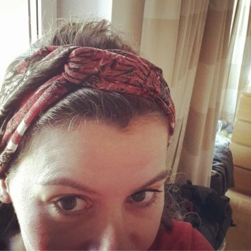 Haarband von krummenaht via Instagram