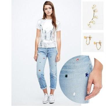 Outfit Inspiration: Weiß mit Gold, Metallic und Glitzer-Akzenten