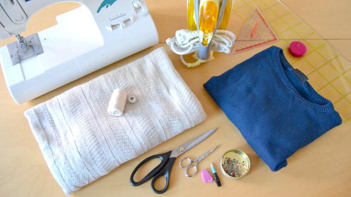 DIY Pullikleid Material und Werkzeug