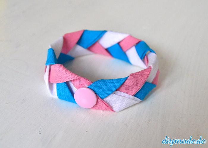 DIY Flechtarmband aus Schrägband