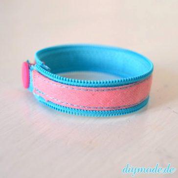 DIY Reißverschluss Armband selber machen 2a