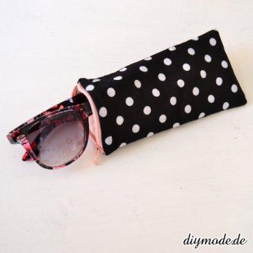 DIY Brillenetui kleines Täschchen für Sonnenbrille mit Reißverschluss nähen selber machen