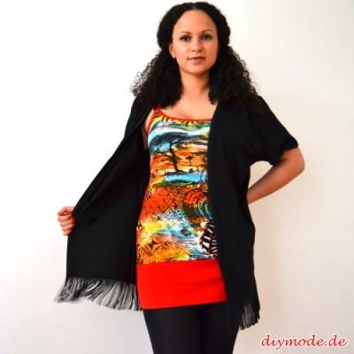 DIY Upcycling T-Shirt mit Fransen nähen – Hippie / Boho Fransekimono selbst machen
