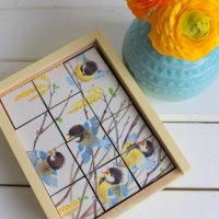 Upcycling DIY Puzzle aus Holzklötzchen