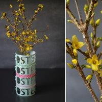 Upcycling DIY Vase aus Papier