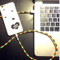 Upcycling Kabel mit Perlen