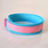 Upcycling Reißverschluss Armband
