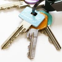 Upcycling Schlüssel mit buntem Nagellack
