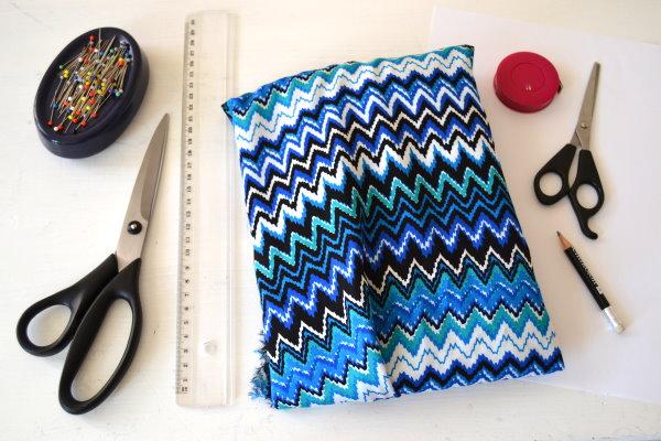 DIY Maxikleid Material und Werkzeug