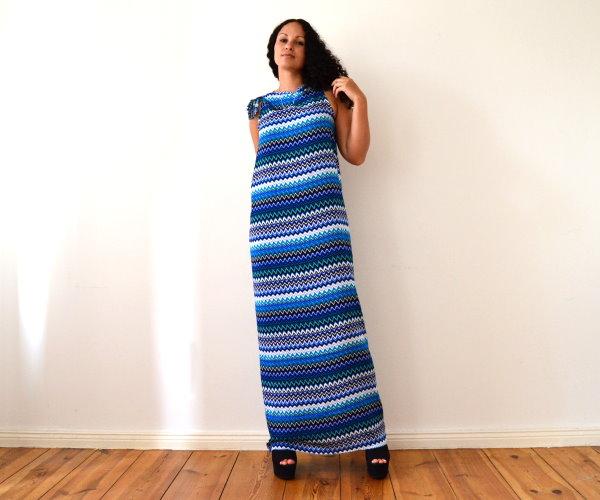 DIY Maxikleid Sommerkleid Strandkleid langes Kleid selbst machen einfach und schnell ohne Nähen 1