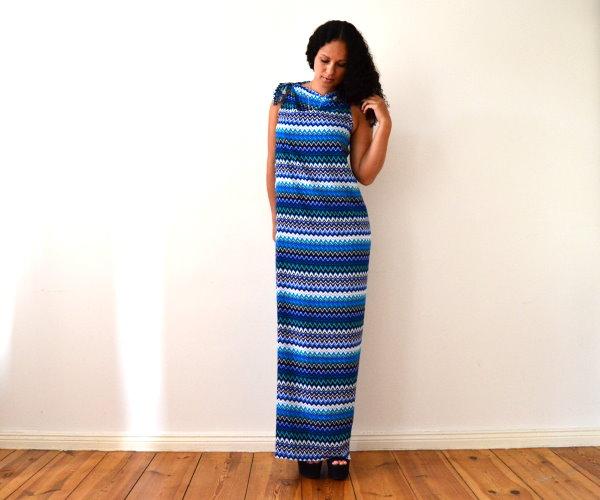 DIY Maxikleid Sommerkleid Strandkleid langes Kleid selbst machen einfach und schnell ohne Nähen 5