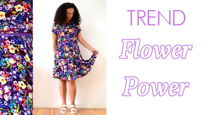 Mode Sommertrends 2015 Trend Sommer Flower Power Blumen lila 1