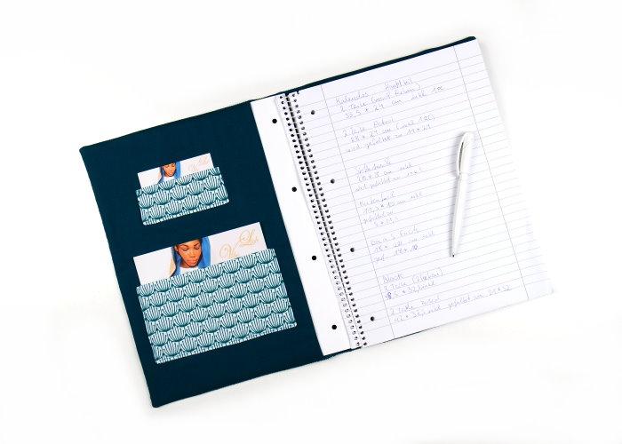 DIY Collegeblock Hülle nähen selbst machen Freebook Anleitung kostenlos Schnittmuster diymode 4