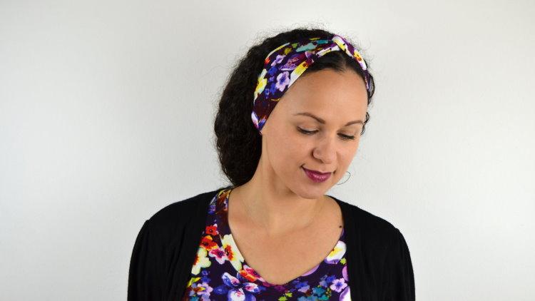 DIY MODE nähen turban turbanhaarband Haarband Nähanleitung selbst selber machen