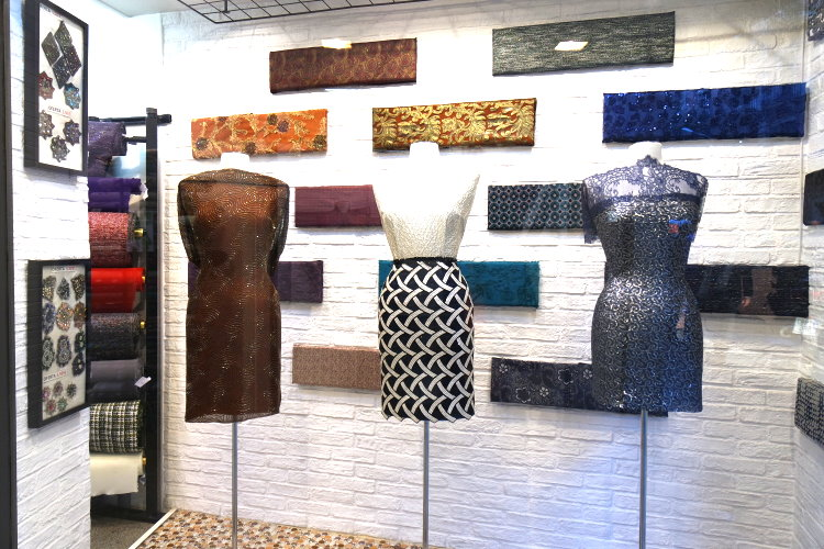 Schaufenster Stoffladen Donna Teixits Barcelona